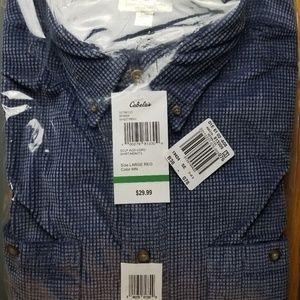 Cabela's - Men's long sleeve shirt - L Blue
